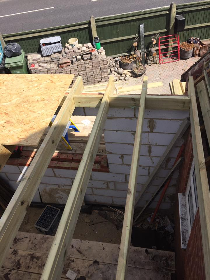 Small Flat Roof Installation Croxford Carpentry